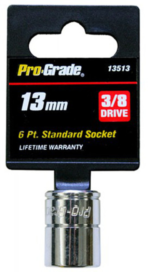 Pro-Grade 13513 3//8-Inch Drive with 6 Point 13mm Socket