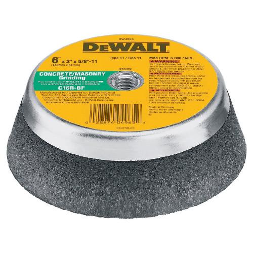 Dewalt Dw4965 6 Inch X 2 Inch Cup Wheel For Masonry Concrete