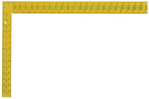 Swanson Ts154 24 Quot Steel Yellow Rafter Square 16 Quot X 24 Quot