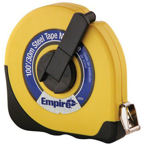 Empire 6699 100ft x 38in Yellow Steel Tape