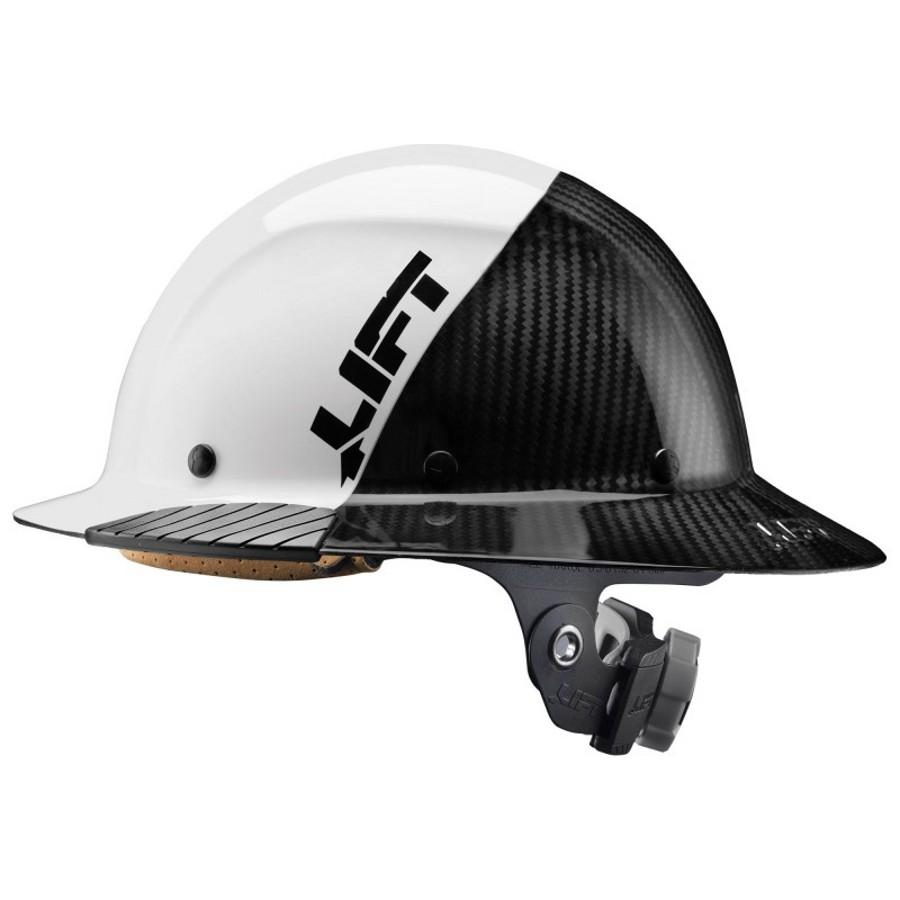 LIFT Safety HDF-15WG DAX White Full Brim Hard Hat
