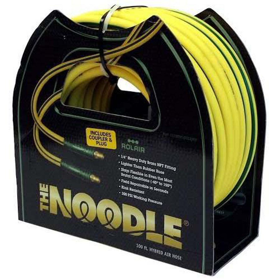 Rolair 14100NOODLE 1/4-Inch x 100-Foot Noodle Air hose with Fittings Click Image to Close  sc 1 st  Texas Tool Traders & 1/4u0027u0027 x 100u0027 Noodle Air Hose With Fittings 06/15