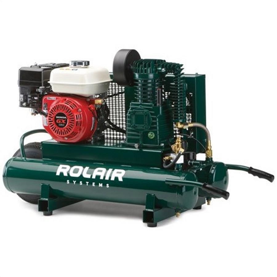 Rol air 4090hk17 5 5hp honda with regulator gauges twin for Honda air compressor motor parts