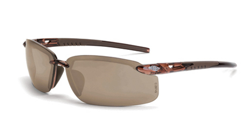 9ff87eda2b Crossfire 29117 ES5 Crystal Brown Frame Safety Sunglasses with HD Brown  Flash Mirror Lenses Click Image to Close