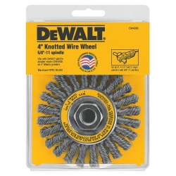"Dewalt DW4930 4-Inch x 5/8""-11 Carbon Steel Twisted Wire Wheel"
