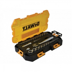 Dewalt DWMT73804 34-Piece 1/2-Inch and 3/8-Inch Drive SAE and Metric Socket Set