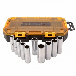 Dewalt DWMT73815 10-Piece 1/2-Inch Drive Deep Metric Socket Set