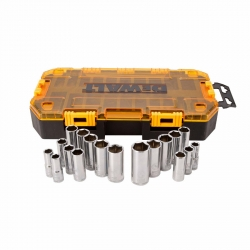 Dewalt DWMT73812 20-Piece 3/8-Inch Drive Deep SAE and Metric Socket Set