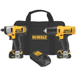 Factory Reconditioned Dewalt DCK211S2R 1/4-Inch Impact, 3/8-Inch Drill 12-Volt Max Kit