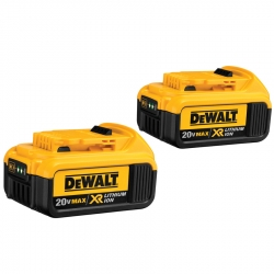 Dewalt DCB204-2 20-Volt 4-Amp/hr Lithium Ion Batteries - 2 Pack