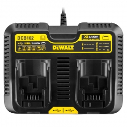 Dewalt DCB102 12-Volt to 20-Volt Dual Port Jobsite Charging Station