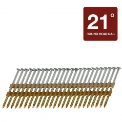 "3-1/4-Inch x .131"" Hot Dip Galvanized Screw Shank Framing Nails - 4,000 Count Box"