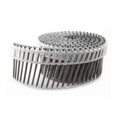 2-Inch x .092-Inch Electro Galvanized Smooth Shank 15-Degree Plastic Collated Coil Nails - 6,000