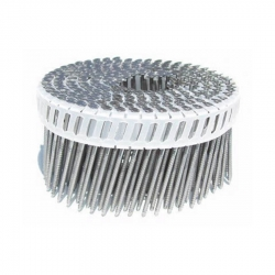 2-1/4-Inch x .092-Inch Electro Galvanized Screw Shank 15-Degree Plastic Collated Coil Nails