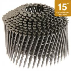 2-Inch x .099-Inch Electro-Galvanized 15-Degree Ring Shank Wire Coil Nails - 9,000 Count Box
