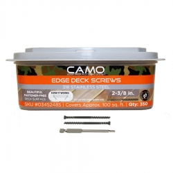 Camo 345248S 2-3/8-Inch Stainless Steel Screws - 350 Count