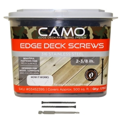 Camo 345239S 2-3/8-Inch Stainless Steel Screws - 1,750 Count