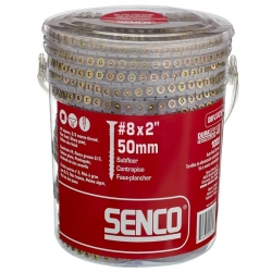 Senco 08F200Y Duraspin #8 by 2-Inch Flooring to Wood Collated Screw - 1,000 Count Box
