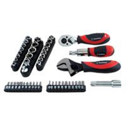 Great Neck 28045 50-Piece Ratchet Socket and Wrench Stubby Tool Set