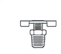 Interchange Brand 82740 / Champion Energy 320D 1/8-Inch Needle Drain Cock - External Seat