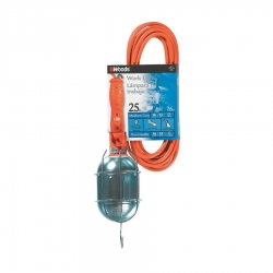Southwire 691SW 16/3 SJT 25-Foot Trouble Light Extension Cord, Metal Guard Switch and Outlet