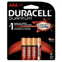 Duracell 66249 AAA-Cell Quantum Alkaline Batteries - 4 Pack