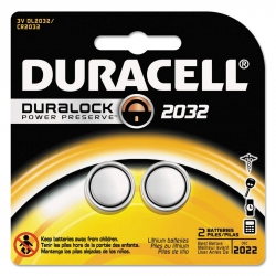 Duracell DL2032B2PK Lithium Button Batteries - 2 Pack