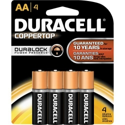 "Duracell MN1500B4Z ""AA"" Batteries - 4 Pack"