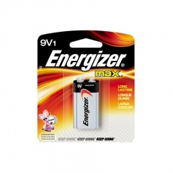 Energizer Max 522BP 9-Volt Alkaline Battery - Single Package of One