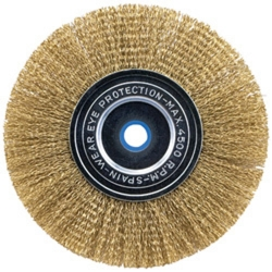 Vermont American 16791 3-Inch Coarse Crimped Wire Brush with Arbor Attached