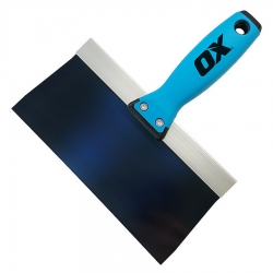 OX Tools OX-P530408 10-Inch Blue Steel Pro Taping Knife with OX Grip