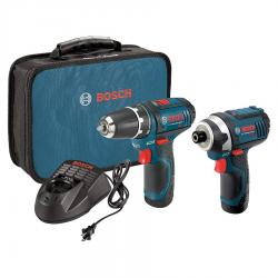 Bosch CLPK22-120 12-Volt Max Two-Tool Cordless Combo Kit with 2.0Ah Batteries