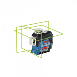 Bosch GLL3-330CG 360-Degree Connected Green Beam Three-Beam Leveling and Alignment Laser