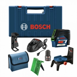 Bosch GCL100-80C Red Beam Cross Line Laser with Plumb Points