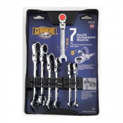 GearHead GH4758 7-Piece SAE Flex Ratchet Wrench Set