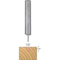 Freud 04-100 1/8-Inch Diameter Double Flute Straight Router Bit