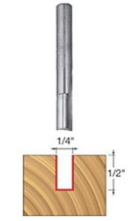 "Freud 04-104 1/4"" Diameter Double Flute Straight Router Bit"