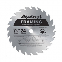 Avanti A0724A 7-1/4-Inch x 24 Tooth Circular Saw Blade - Single Blade