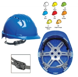 1bc971e193a JSP Evolution 6121 6-Point Polyethylene Suspension Slip Ratchet Bright  Yellow Hard Hat