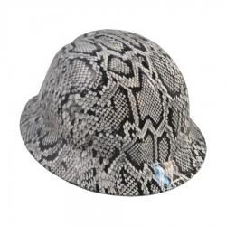 7e631b022cb Tasco Safety hdhh-1575-FB Snakeskin White Hydro Dipped Full Brim Hard Hat