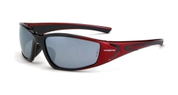 Crossfire 23233 RPG Black / Pearl Red Frame Safety Sunglasses with Silver Mirror Lenses