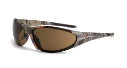 Crossfire 18146 Core Brown Camo Frame Safety Sunglasses with HD Brown Lenses