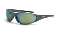 Crossfire 181212 Core Emerald Pearl Frame Safety Sunglasses with Gold Mirror Lenses