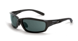 Crossfire 241AF Infinity Crystal Black Frame Safety Sunglasses with Smoke Lenses