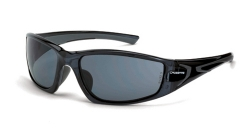 Crossfire 23421 RPG Crystal Black Frame Safety Sunglasses with Smoke Lenses