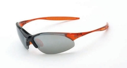 Crossfire 1583 Cobra Black /Crystal Burnt Orange Frame Safety Sunglasses with Silver Mirror Lens