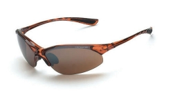Crossfire 15117 Cobra Crystal Brown Frame Safety Sunglasses with HD Brown Flash Mirror Lenses