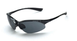 Crossfire 1541 Cobra Crystal Black Frame Safety Sunglasses with Smoke Lenses