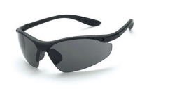 Crossfire 121 Talon Matte Black Frame Safety Sunglasses with Smoke Lenses