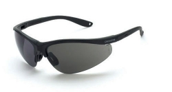 Crossfire 1731 Brigade Matte Black Frame Safety Sunglasses with Smoke Lenses